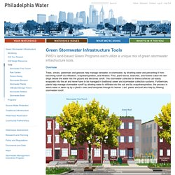 Green Stormwater Infrastructure Tools