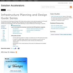 Infrastructure Planning and Design Guide Series