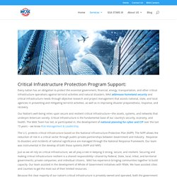 Critical Infrastructure Protection Program Support Near Me