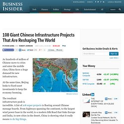 108 Giant Chinese Infrastructure Projects