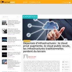 Dépenses d'infrastructures : le cloud privé augmente, le cloud public recule, les infrastructures traditionnelles perdent du terrain