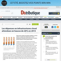 Le cloud public va tirer les ventes d'infrastructures IT en 2015