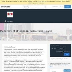 Management of Urban Infrastructures – part 1 - École Polytechnique Fédérale de Lausanne