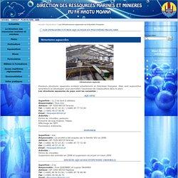 Les infrastructures aquacoles en Polynésie française - Direction des ressources marines et minières