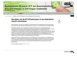 Het delen van de ICT-infrastructuur in een federatieve cloud is duurzamer - Duurzaamheid