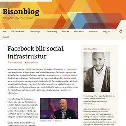 Facebook blir social infrastruktur
