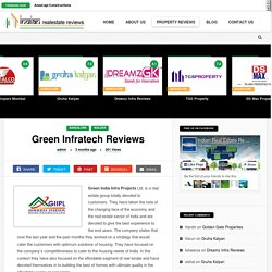 Disappointed Points about Green Infratech Bangalore Builders