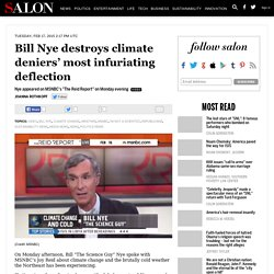 Bill Nye destroys climate deniers' most infuriating deflection