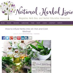 How to infuse herbs into oil: Hot and Cold Method - Natural Herbal Living Magazine