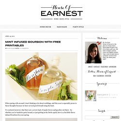 Mint Infused Bourbon with Free Printables
