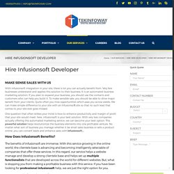 Improve sales by hiring Professional Infusionsoft Developer
