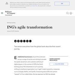 ING's agile transformation