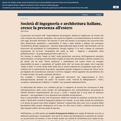 Società di ingegneria e architettura italiane, cresce la presenza all'estero