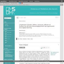 L'ingénierie tutorale. Définir, concevoir, diffuser et évaluer les services d'accompagnement des apprenants d'un digital learning