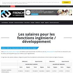 Salaires pour les fonctions ingénierie / développement
