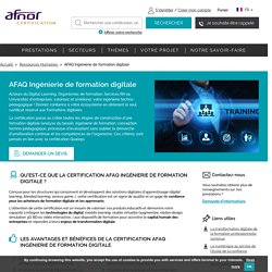 AFAQ Ingénierie de formation digitale