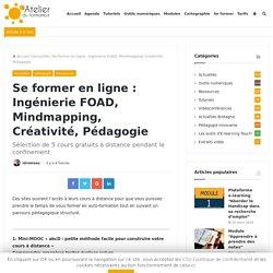 Se former en ligne : Ingénierie FOAD, Mindmapping, Créativité, Pédagogie