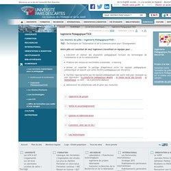 Ingénierie Pédagogique/TICE / Les services numériques pour la pédagogie / NUMERIQUE / Accueil - Universite Paris Descartes