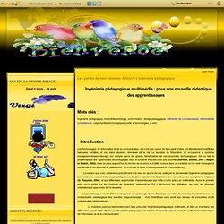 Les parties de mon mémoire- Article1: L'ingénierie pédagogique - Le blog de Virginie Blanche Ngah