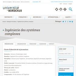 Ingénierie des systèmes complexes