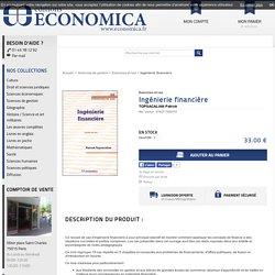 Achat livre Ingénierie financière TOPSACALIAN Patrick - Economica