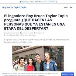 El ingeniero Roy Bruce Taylor Tapia pregunta ¿QUÉ HACEN LAS PERSONAS QUE YA ESTÁN EN UNA ETAPA DEL DESPERTAR? – Roy Bruce Taylor Tapia