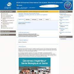 Ingénieur Biologie et Santé - Université Angers