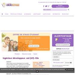 Ingénieur développeur .net (H/F)- Lille