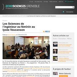 Les Sciences de l'ingénieur au féminin au lycée Vaucanson