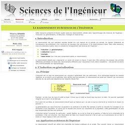 Sciences de L'Ingénieur - Le plaisir du raisonnement