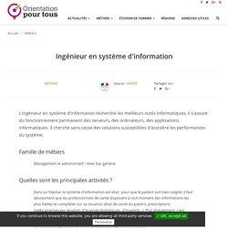 Ingénieur en système d'information
