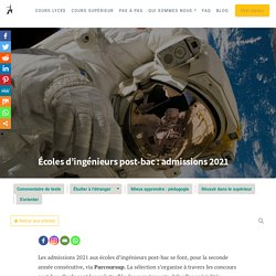 Écoles d'ingénieurs post-bac : admissions 2021 - Averroes e-learning - Le blog
