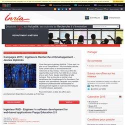 Campagne 2015 ; Ingénieurs Recherche et Développement - Jeunes diplômés