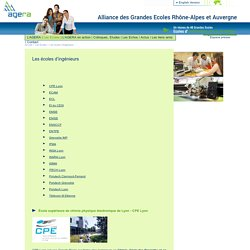 Grandes écoles d'ingénieurs & polytechnique Rhône-Alpes, Lyon, Grenoble, St Etienne, Chambéry