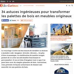 34 astuces ingénieuses pour transformer les palettes de bois en meubles originaux