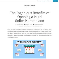 The Ingenious Benefits of Opening a Multi Seller Marketplace – Surplus Central