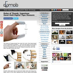 Rules of Thumb: Ingenious Hand-Held Digital Tape Measure & Dornob