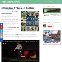 23 Ingenious DIY Compost Bin Ideas
