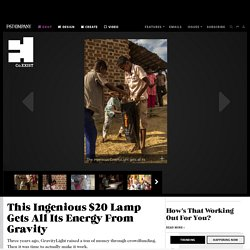 This Ingenious $20 Lamp Gets All Its Energy From Gravity