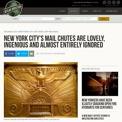 New York City's Mail Chutes are Lovely, Ingenious and Almost Entirely Ignored