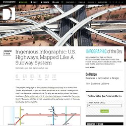 Ingenious Infographic: U.S. Highways, Mapped Like A Subway System