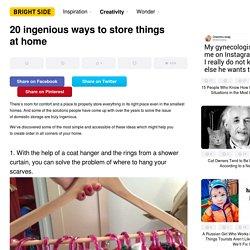 20ingenious ways tostore things athome