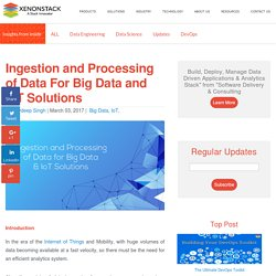 Ingestion and Processing of Data for Big Data and IoT Solutions