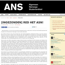 ANS: [INGEZONDEN] Red het ASN!