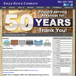 Fence Repair Services Little Rock AR
