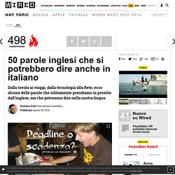 50 parole inglesi che si potrebbero dire anche in italiano