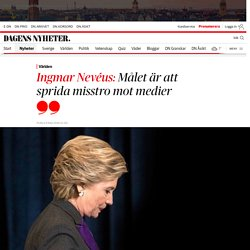 """Ingmar Nevéus om """"Pizzagate"""" och fejknyheter"""