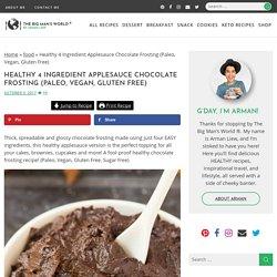 Healthy 4 Ingredient Applesauce Chocolate Frosting (Paleo, Vegan, Gluten Free)