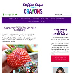 3-Ingredient Chocolate Cake Batter Dip