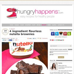 4 ingredient flourless nutella brownies